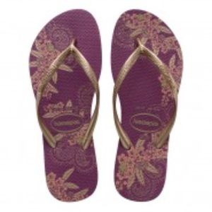 Like new maroon and gold havaianas sandals